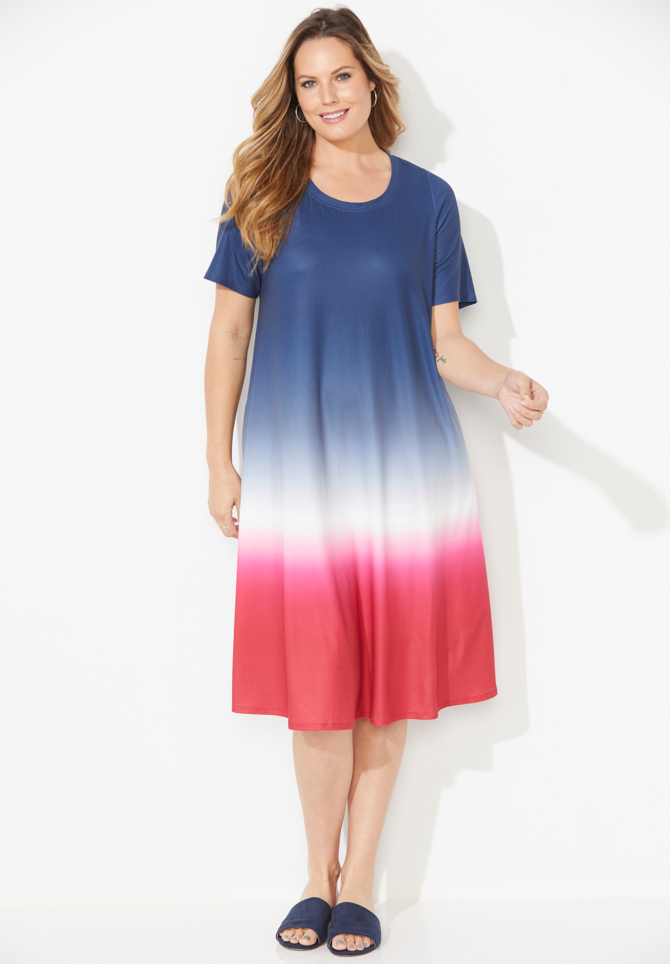 Parade Dip-Dye A-Line Dress (With Pockets),