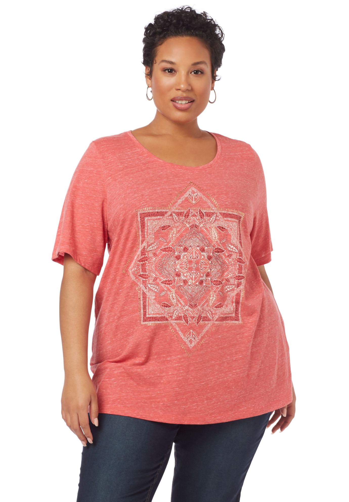 Stay Centered Short-Sleeve Top,