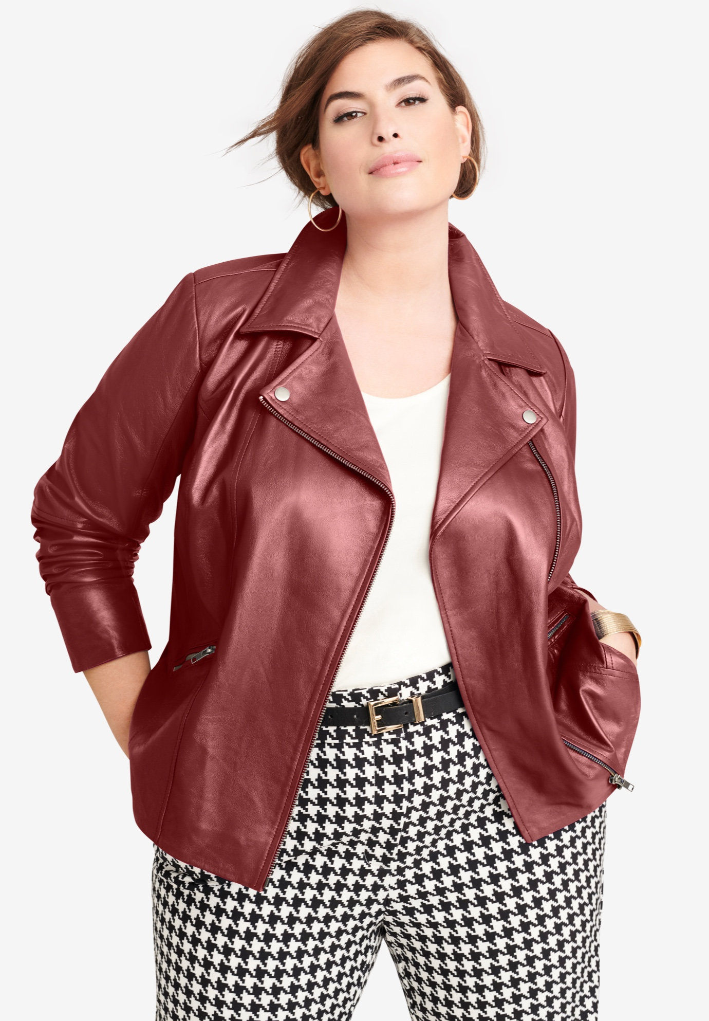Leather Moto Jacket,