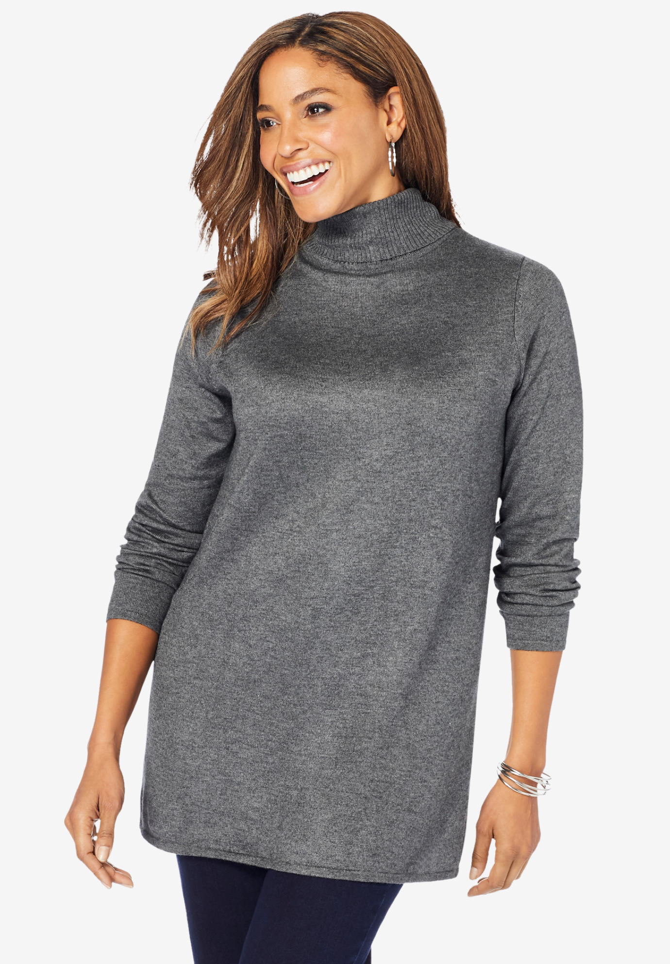 Cotton Cashmere Turtleneck,