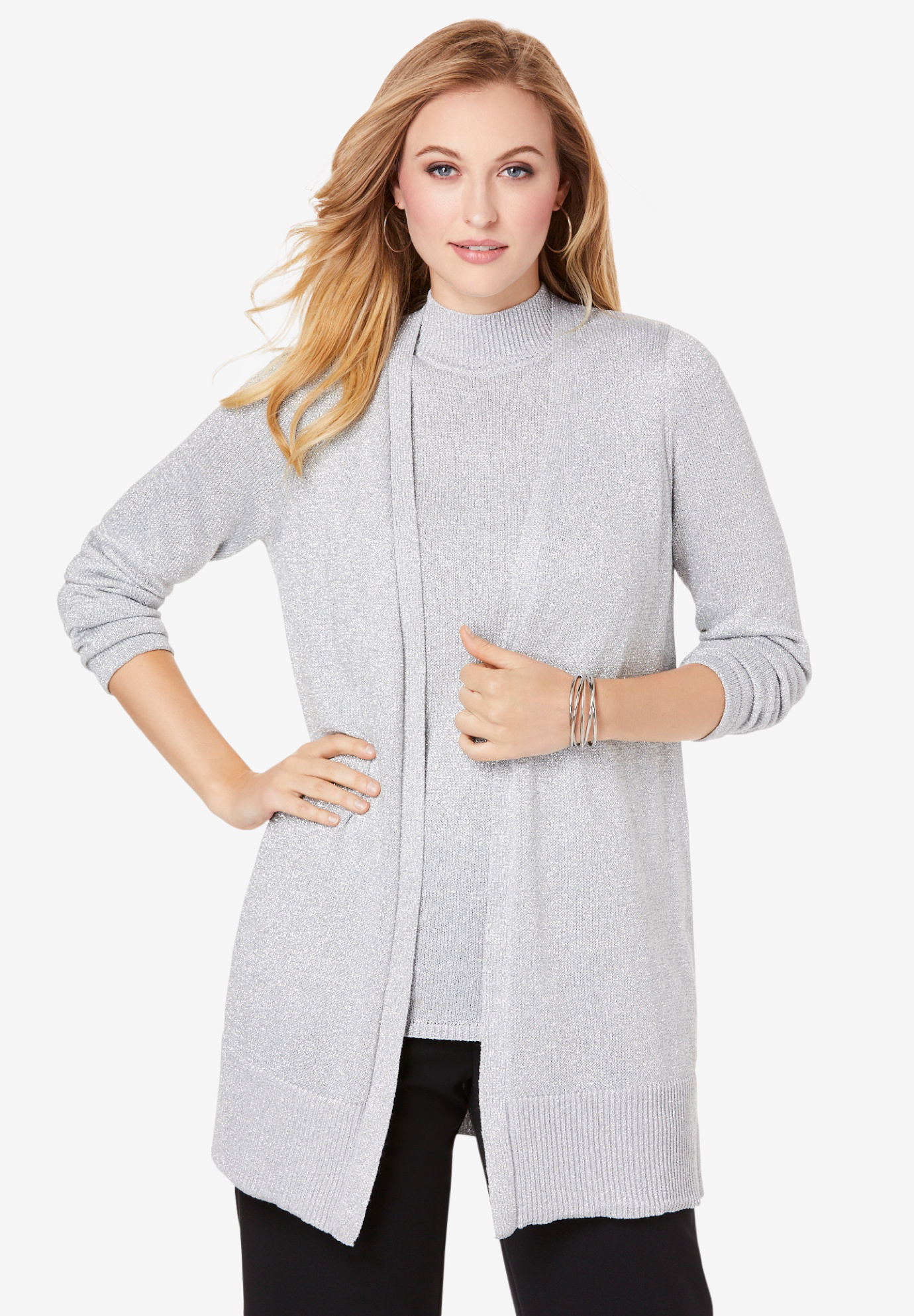 Shimmer Cardigan Sweater,