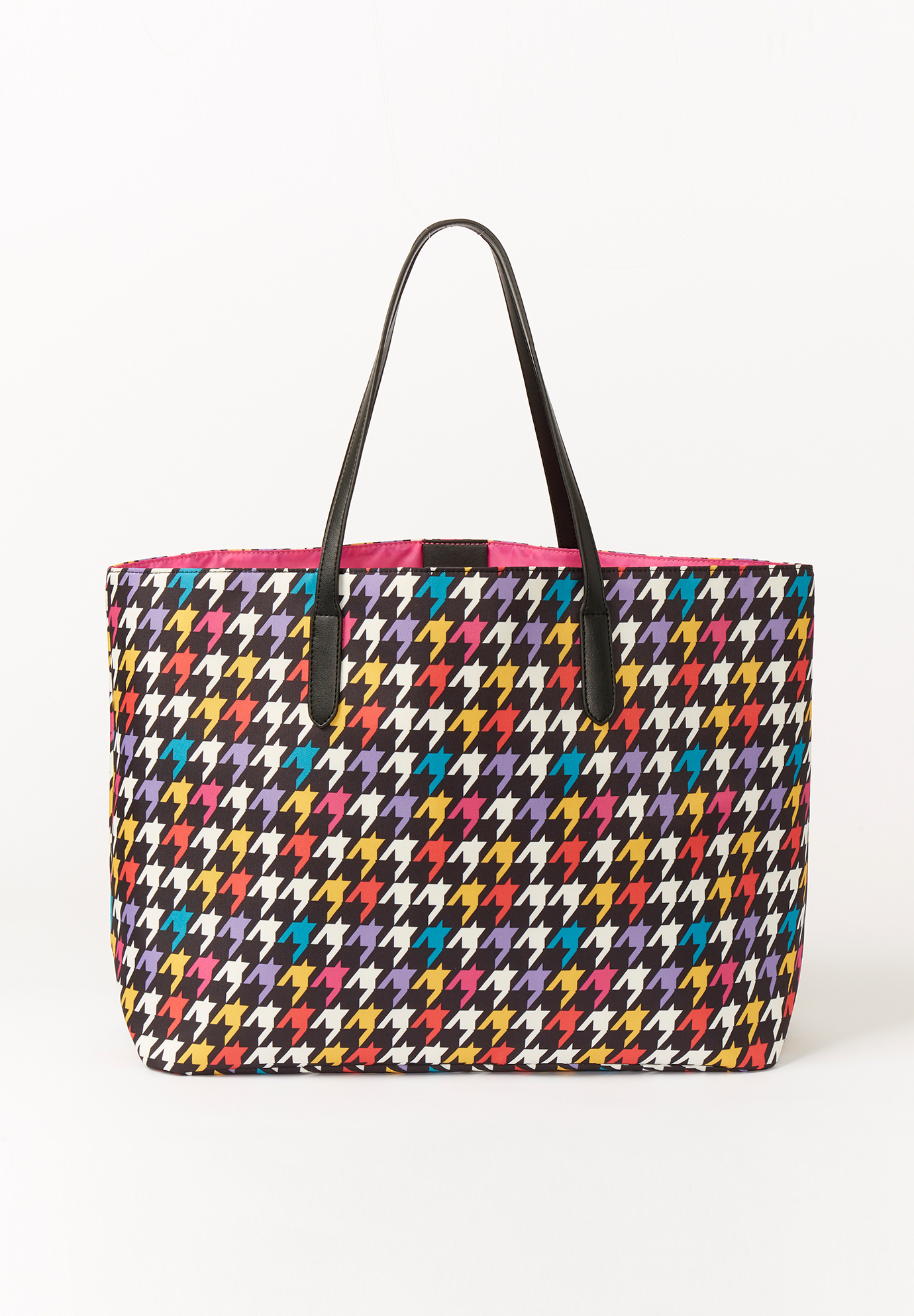 Printed Tote Bag, HOUNDSTOOTH