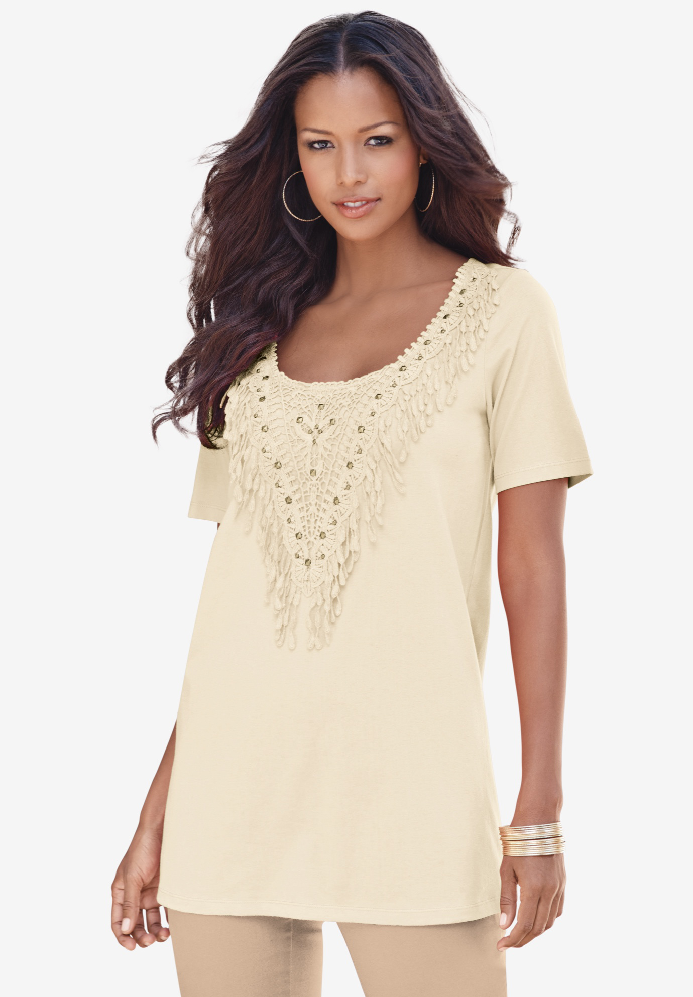 Studded Crochet Tunic,