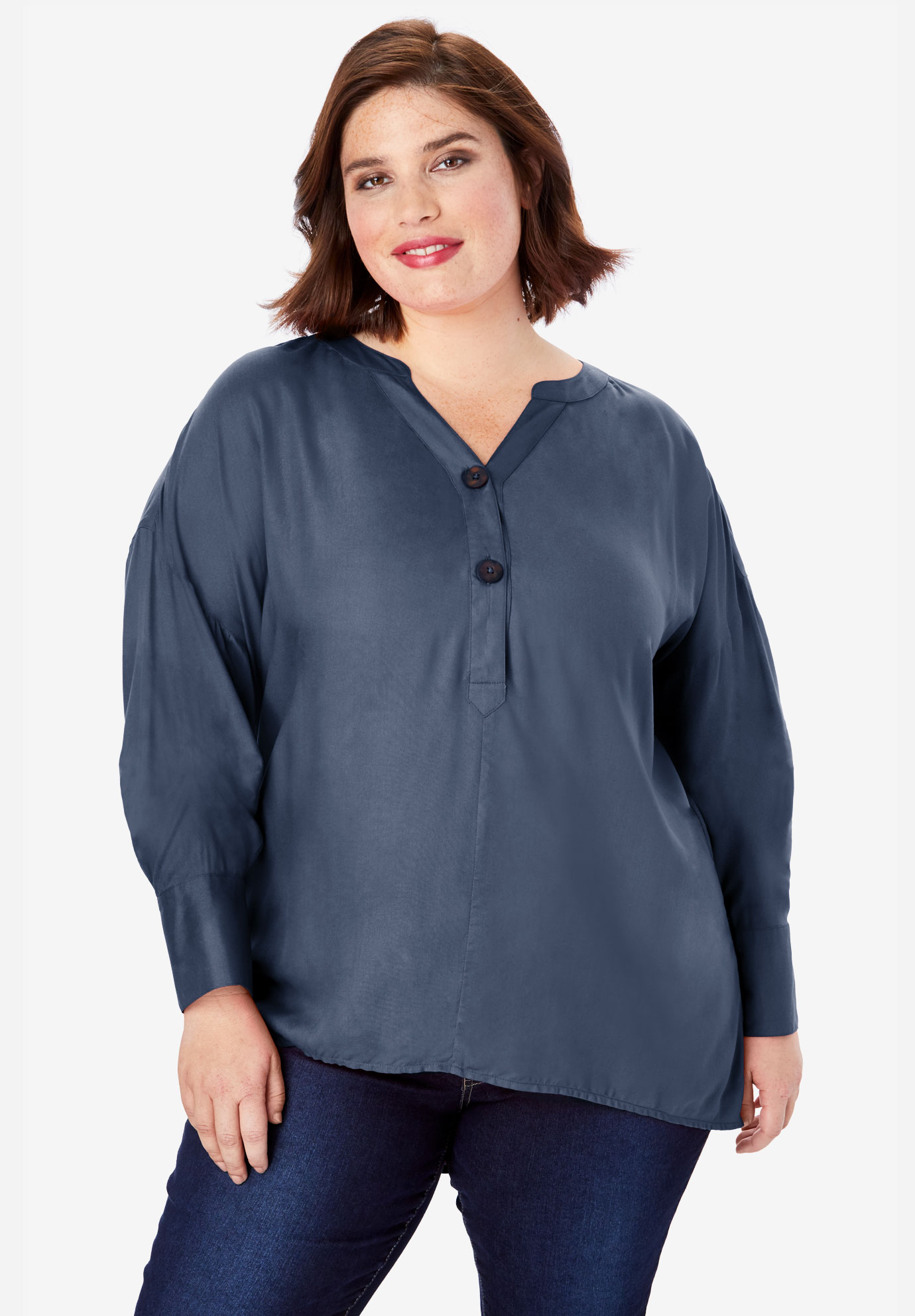 Flowing Henley Top,