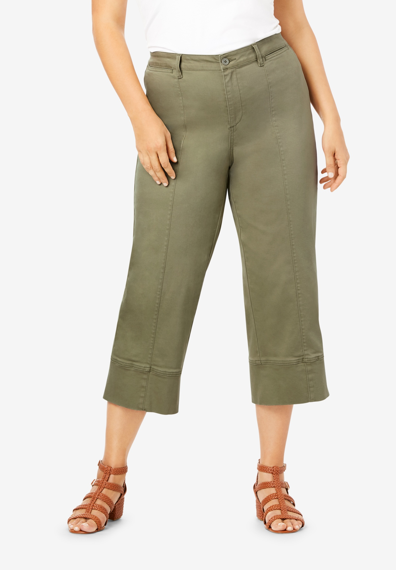 Crop Stretch Chino Pant,