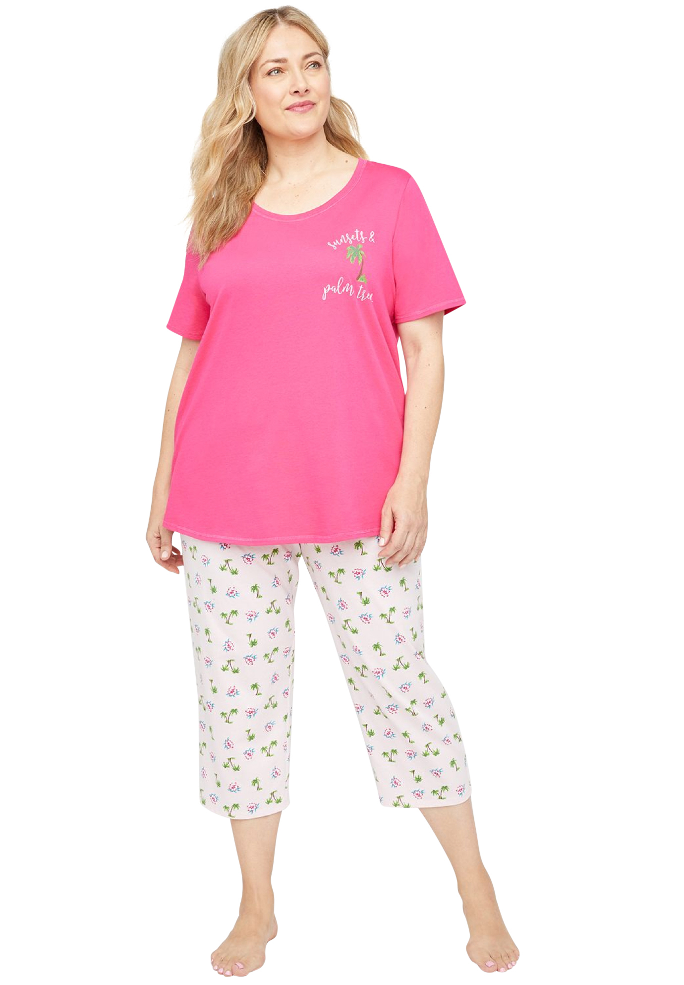 Cotton Sleep Capri,