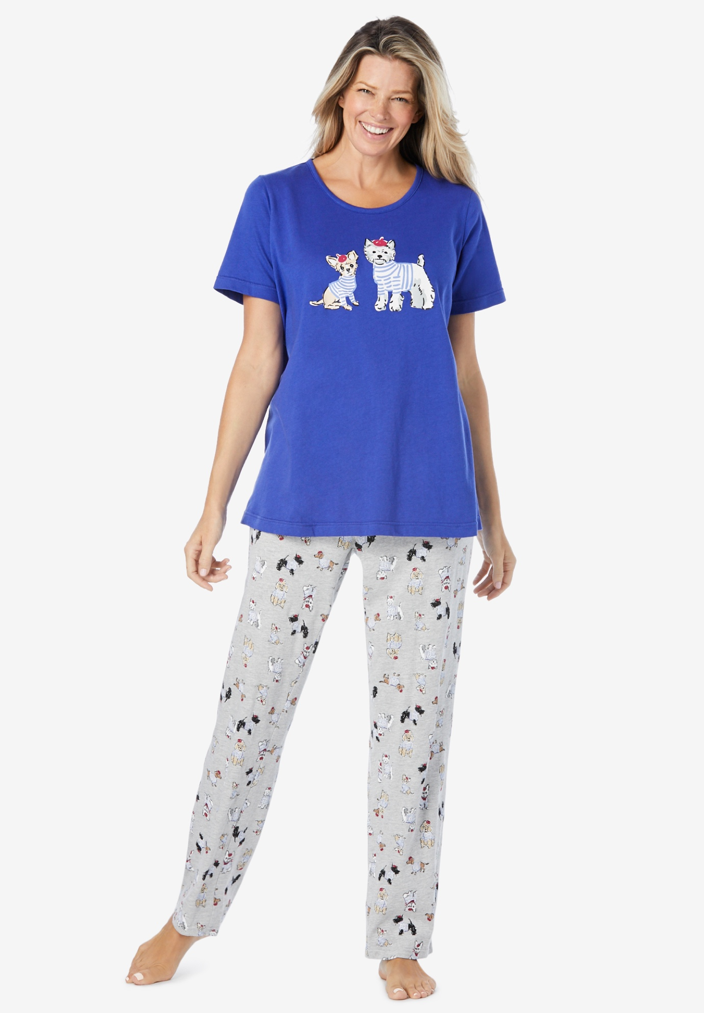 Graphic Tee PJ Set ,
