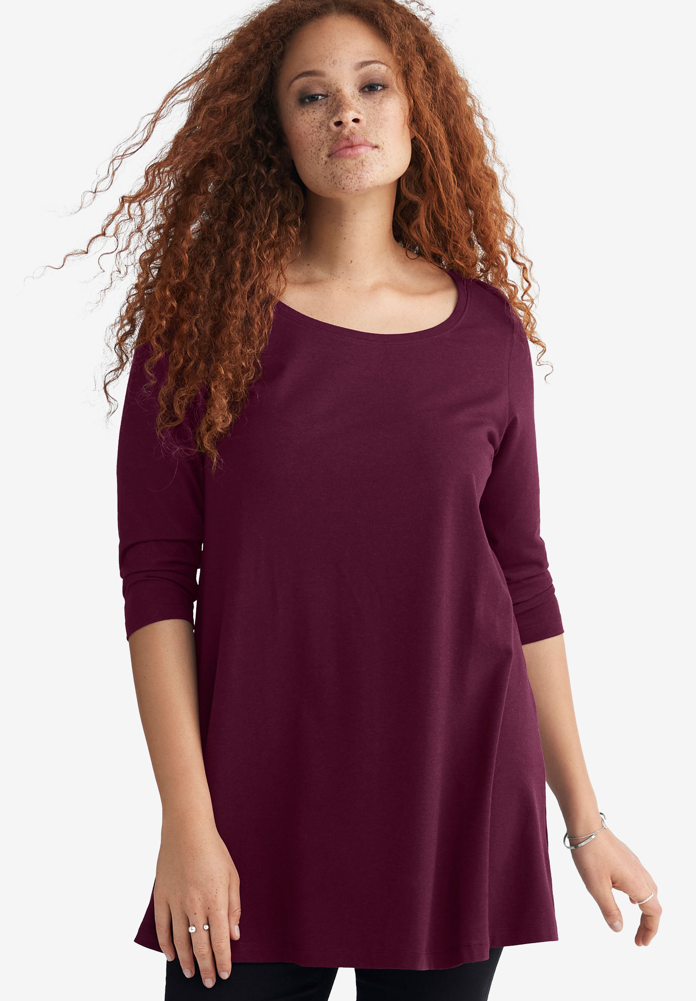 3/4 Sleeve Knit Tunic,