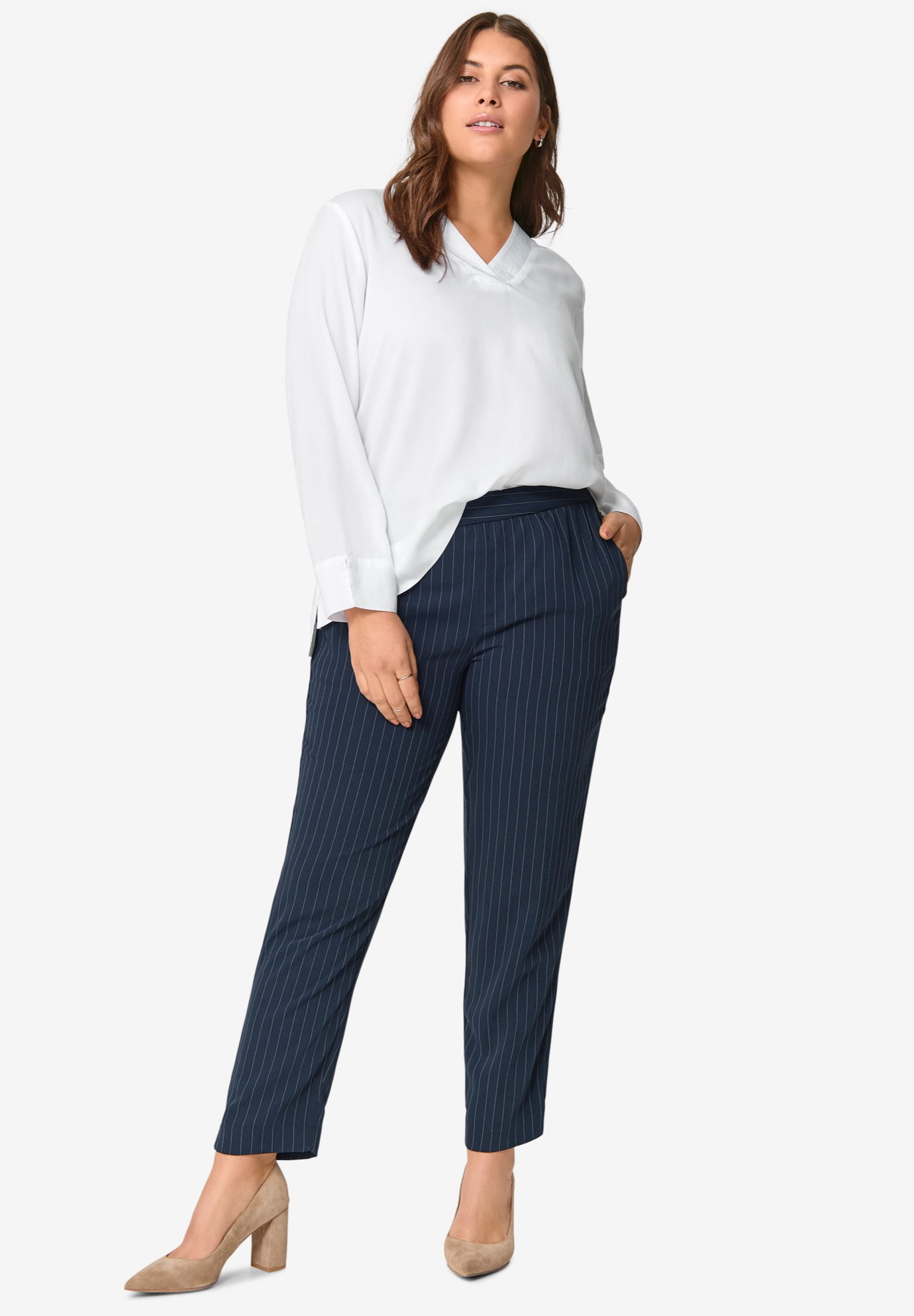Soft Back-Elastic Trousers,