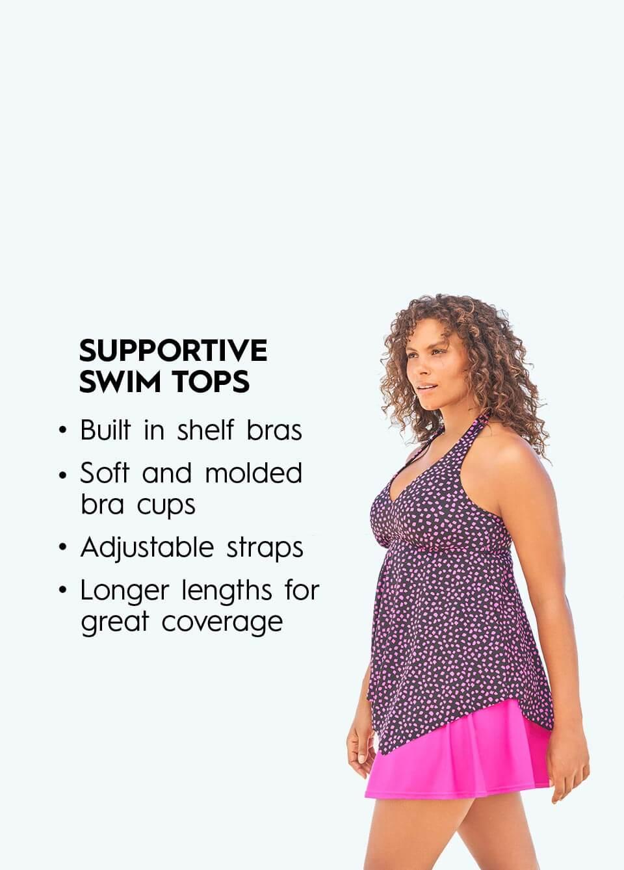 Supportive Swim Tops