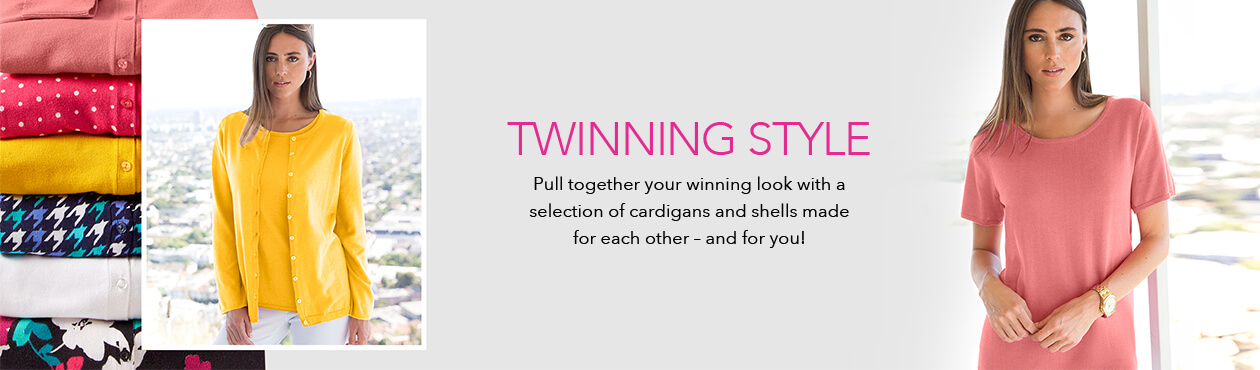 Twinning Style - Our mix-and-match sweater sets make a chic style statement that's positively timeless.