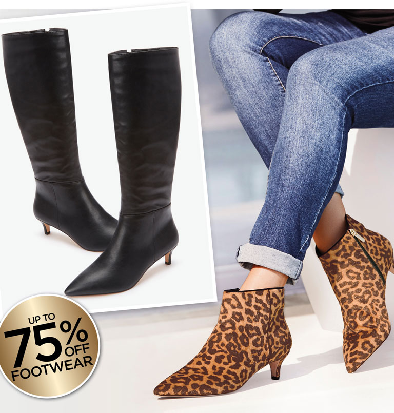 up to 75% off Footwear